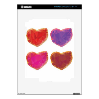 Polygonal Hearts 3 Decal For iPad 3