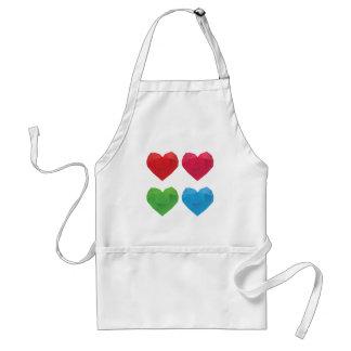 Polygonal Hearts 5 Adult Apron