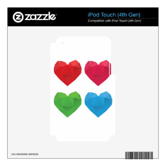 Polygonal Hearts 5 iPod Touch 4G Skins