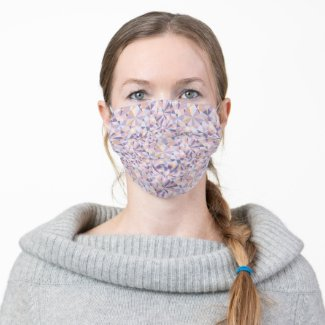 polygonal pattern like a cut of jewelry - cloth face mask