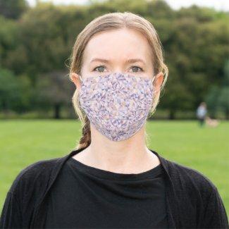 polygonal pattern like a cut of jewelry - cloth face mask
