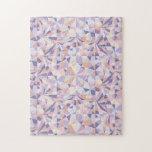 polygonal pattern like a cut of jewelry - jigsaw puzzle