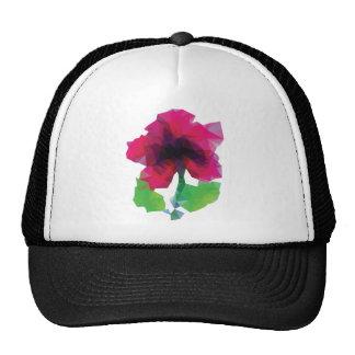 Polygonal Purple Flower Trucker Hat