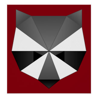 Polygonal Raccoon Poster