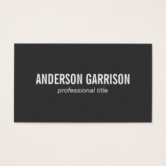 Polygons | black business card
