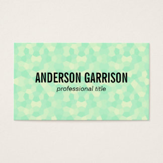 Polygons | green/black business card