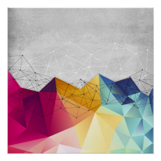 Polygons on Concrete Poster