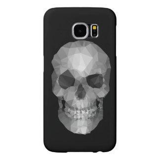 Polygons Skull black Samsung Galaxy S6 Case