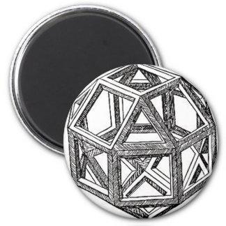 Polyhedra. 2 Inch Round Magnet