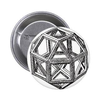 Polyhedra. Pinback Buttons
