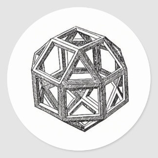 Polyhedra. Classic Round Sticker