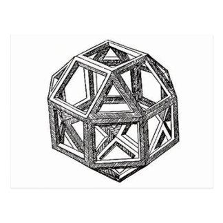 Polyhedra. Postcard