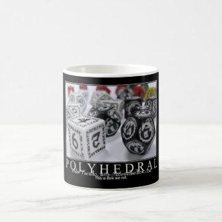 Polyhedral,  classic white coffee mug