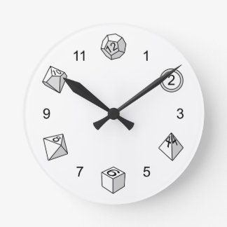 Polyhedral Dice - Round Wallclocks