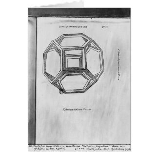 Polyhedron, from 'De Divina Proportione' Greeting Card