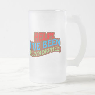 Polymorphed Frosted Glass Beer Mug