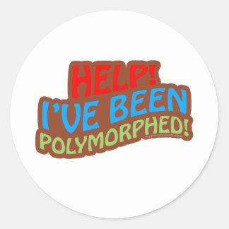 Polymorphed Pegatina Redonda