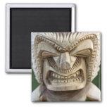 Polynesia, Kingdom of Tonga. Close-up of tiki 2 Inch Square Magnet