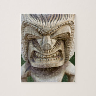 Polynesia, Kingdom of Tonga. Close-up of tiki Jigsaw Puzzle