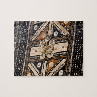 Polynesia, Kingdom of Tonga. Detail of tapa Jigsaw Puzzle