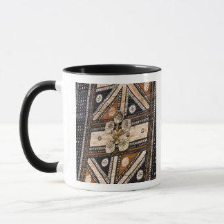 Polynesia, Kingdom of Tonga. Detail of tapa Mug
