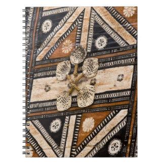 Polynesia, Kingdom of Tonga. Detail of tapa Spiral Notebook