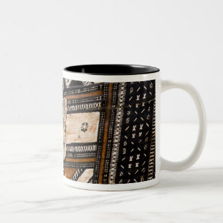 Polynesia, Kingdom of Tonga. Detail of tapa Two-Tone Coffee Mug