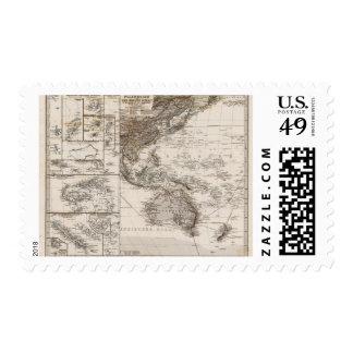 Polynesia Map Stamp