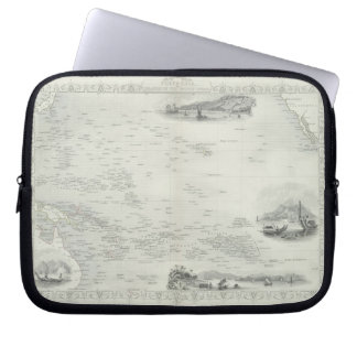 Polynesia or Islands in the Pacific Ocean from a Computer Sleeve