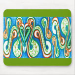 Polynesia Paisely green Mousepads