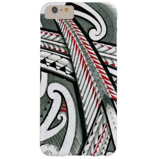 polynesian art red grey tattoo design island hawai barely there iPhone 6 plus case
