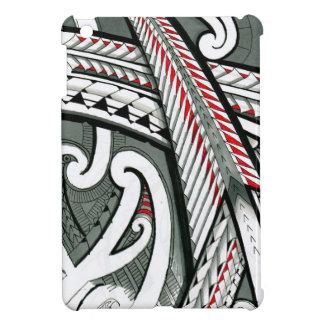 polynesian art red grey tattoo design island hawai cover for the iPad mini