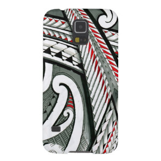 polynesian art red grey tattoo design island hawai galaxy s5 cover