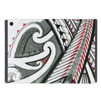 polynesian art red grey tattoo design island hawai iPad mini cover