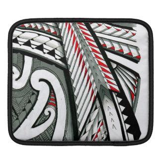 polynesian art red grey tattoo design island hawai iPad sleeve