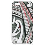 polynesian art red grey tattoo design island hawai iPhone 5C cover