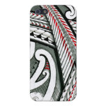 polynesian art red grey tattoo design island hawai cover for iPhone 5/5S