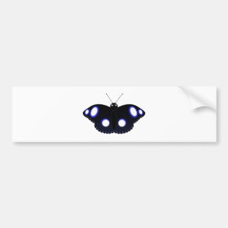 Polynesian Black Butterfly Bumper Stickers