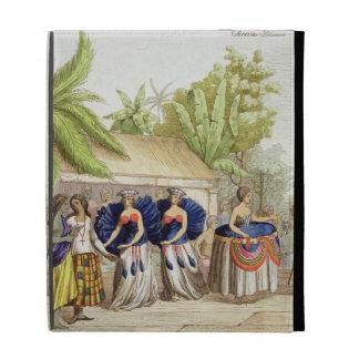 Polynesian Dancing Girls, engraved by A. Bernati ( iPad Folio Cases