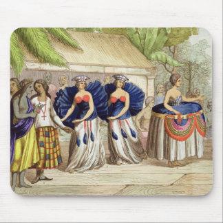 Polynesian Dancing Girls, engraved by A. Bernati ( Mouse Pad