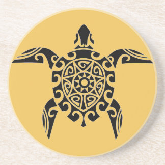 Polynesian Design Turtle Coasters