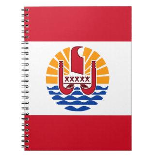 Polynesian Flag Spiral Notebook
