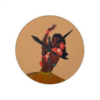 Polynesian Hula Dancer Clock