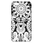 Polynesian lizard and mask tattoo design iPhone 5C cover