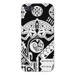 Polynesian lizard and mask tattoo design iPhone 5/5S cases