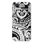 Polynesian lizard and mask tattoo design iPhone 5 cases