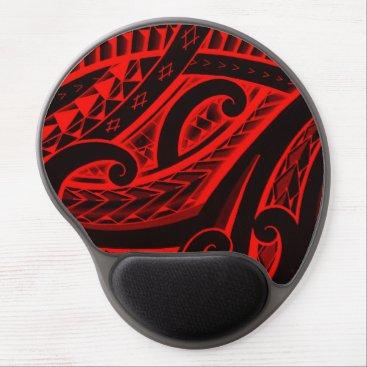 MarkStorm Polynesian/Maori style tattoo design patterns Gel Mouse Pad