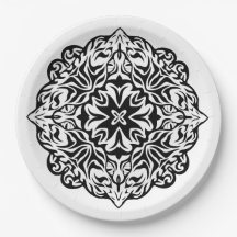 2e633a2f5b5ab Mandala Tattoo Plates | Zazzle