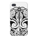 Polynesian mask tattoo design cases for iPhone 4