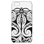 Polynesian mask tattoo design cover for iPhone 5C